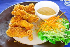Prawn fritter Stock Images