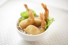 Prawn Fritters. Chinese style crispy fried prawn fritters Royalty Free Stock Image