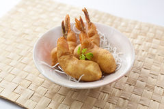 Prawn Fritters. Chinese style crispy fried prawn fritters Stock Images
