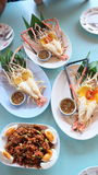 Prawn grill, food try in Thailand Royalty Free Stock Photo