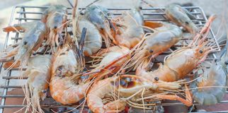 Prawn grilled Royalty Free Stock Photography