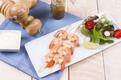 Prawn kebab Stock Photos
