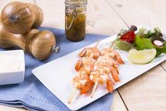 Prawn kebab Stock Images