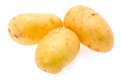 New potatoes - white background Stock Image