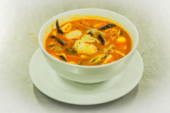 Prawn and lemon grass soup with mushrooms Stock Images