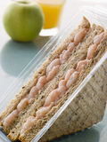 Prawn Marie Rose Sandwich On Granary Bread Royalty Free Stock Images