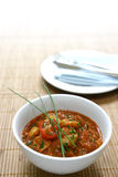 Prawn masala and chives Stock Image