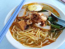 Prawn mee/noodle Stock Photography
