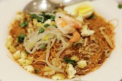 The prawn mee, prawn noodles. At 2016 royalty free stock photo