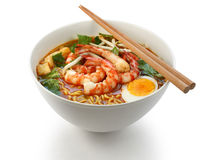Prawn mee, prawn noodles Stock Photo
