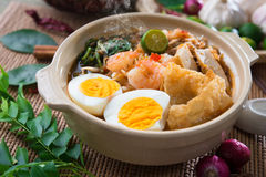 Prawn mee, prawn noodles. Royalty Free Stock Photos