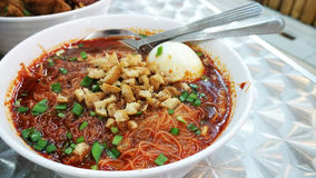Prawn mee soup Royalty Free Stock Images
