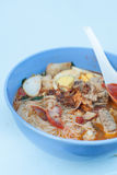 Prawn mee soup Royalty Free Stock Photo