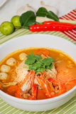Prawn noodle. Malaysian food spicy noodles stock image