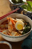 Prawn noodle. Prawn mee, a famous noodle & soup type food in Pinang, Malaysia. Soup have stronger smells than other Stock Image
