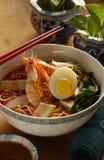 Prawn noodle Stock Image