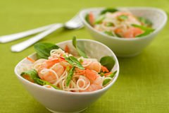 Prawn noodle salad Stock Images
