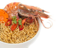 Prawn noodle soup. Stock Images