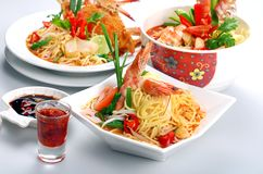 Prawn Noodles Stock Photo