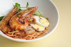 Prawn noodles Stock Image