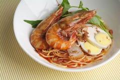 Prawn noodles Stock Photography