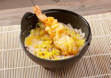 Prawn noodles sup with dumpling Stock Photography