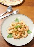 Prawn pasta Royalty Free Stock Image