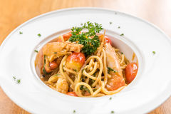 Prawn Pasta Royalty Free Stock Photography