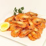 Prawn platter Stock Images