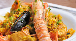 Prawn with rice Royalty Free Stock Photos