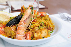 Prawn with rice Royalty Free Stock Photo
