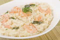 Prawn Risotto Bianco Royalty Free Stock Photography