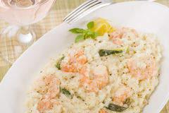 Prawn Risotto Bianco Stock Images