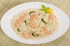 Prawn Risotto Bianco Royalty Free Stock Photo