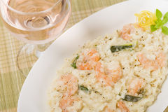 Prawn Risotto Bianco Royalty Free Stock Photos