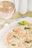 Prawn Risotto Bianco Royalty Free Stock Image