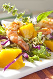 Prawn salad Stock Photography
