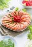 Prawn salad Stock Images