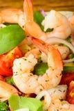 Prawn salad closeup Stock Images
