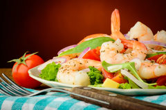 Prawn salad Stock Image