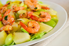 Prawn salad Royalty Free Stock Image