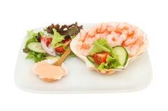 Prawn salad snack Royalty Free Stock Photography