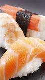 PRAWN, SALMON AND KANI Stock Images