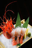 Prawn sashimi on the ice Stock Photos