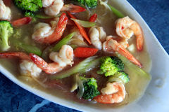 Prawn in sauce Stock Image