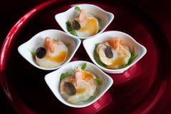 Prawn & Scallop Tasters Stock Photos