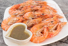 Prawn seafood Stock Images