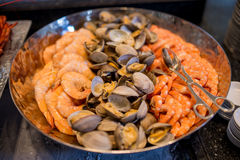 Prawn shellfish mussel seafood Stock Image