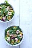 Prawn/shrimp salad Stock Photos
