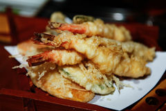 Prawn Shrimp Vegetable Tempura Royalty Free Stock Photography